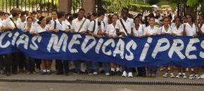 Estudiantes de la Universidad Médica capitalina recordaron al Héroe de Yaguajay