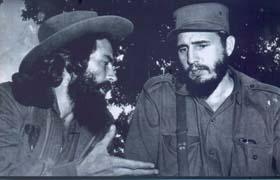 Camilo Cienfuegos, un hombre de confianza del líder de la Revolución Cubana, Fidel Castro.