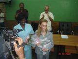 La Dra. Prado (en el centro de la imagen) ha elogiado los resultados y los avances del Mayor Archipiélago del Caribe