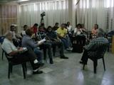 Una de las sesiones de trabajo del taller de audiovisuales