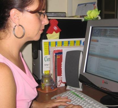Licenciada Tania Izquierdo Pamias, editora principal de la BVS/Cuba
