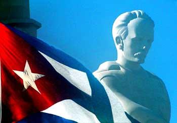 Bandera Cubana-Martí. Plaza de la Revolución