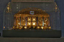 Reliquias de Hildegarde von Bingen en la iglesia de Ebingen