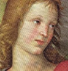 Busto de ángel, fragmento del cuadro La coronación de San Nicolás de Tolentino. Brescia.
