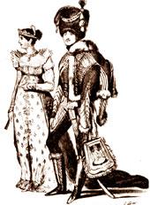 Las ropas que usaban las mujeres y los hombres en la época de Enriqueta