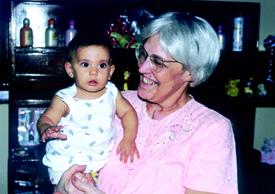 Con su nieta