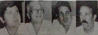 Doctores: Leonel Gonzalez, Oscar Suarez, Omar Lopez y Jorge Lage