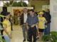 El ministro, doctor Damodar Peña, cortó la cinta de la